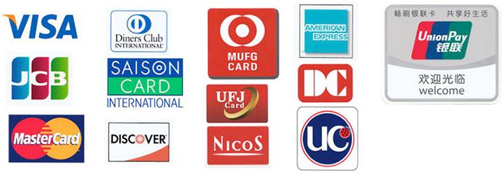 クレジットカード支払い可能。各社カードのポイントを還元できます。
