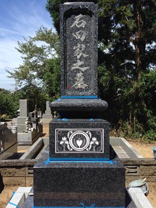 和型墓石に合う繊細な書体です(工事中)