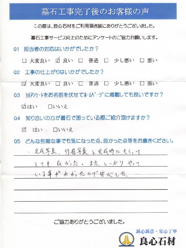 墓所リフォーム工事・菅谷様